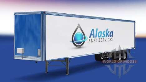 Скин Alaska Fuel Services на полуприцеп для American Truck Simulator