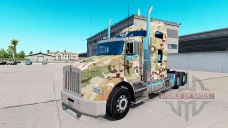 Скин Camouflage на тягач Kenworth T800 для American Truck Simulator