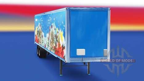 Скин Fish v2.0 на полуприцеп для American Truck Simulator