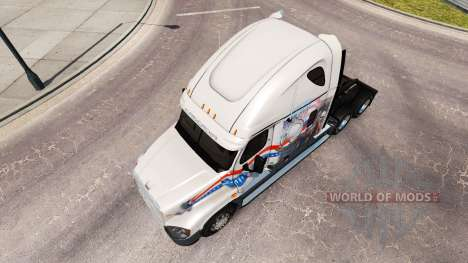 Скин Bay&Bay POW MIA на Freightliner Cascadia для American Truck Simulator