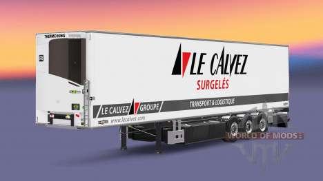 Полуприцеп-рефрижератор Chereau Le Calvez для Euro Truck Simulator 2