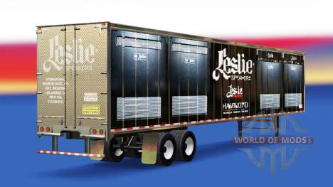 Скин Leslie Speakers на полуприцеп для American Truck Simulator