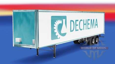 Скин Dechema на полуприцеп для American Truck Simulator