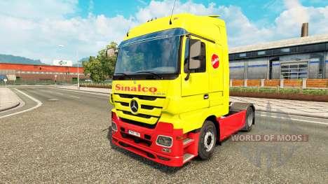Скин Sinalco на тягач Mercedes-Benz для Euro Truck Simulator 2