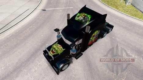 Скин Maximum Overdrive на тягач Peterbilt 389 для American Truck Simulator