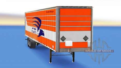 Скин Express Delivery на полуприцеп для American Truck Simulator