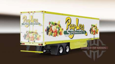 Скин Pay-Less Supermarkets на полуприцеп для American Truck Simulator