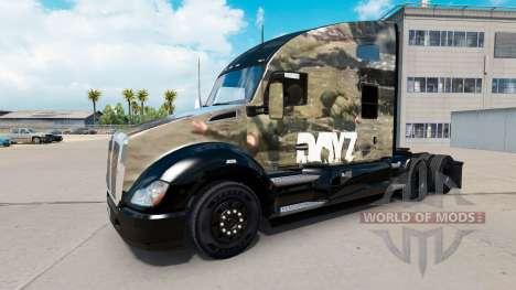 Скин DayZ на тягач Kenworth для American Truck Simulator