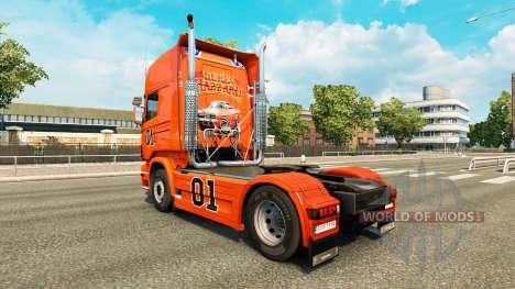 Скин Hazzard v2.0 на тягач Scania для Euro Truck Simulator 2