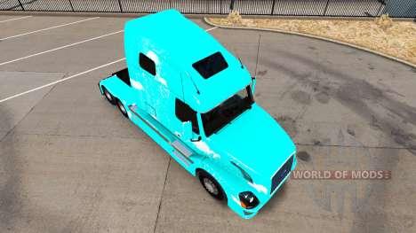 Скин Blue fire на тягач Volvo VNL 670 для American Truck Simulator