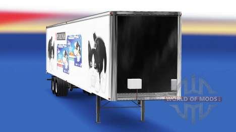 Скин Felix v2.0 на полуприцеп для American Truck Simulator