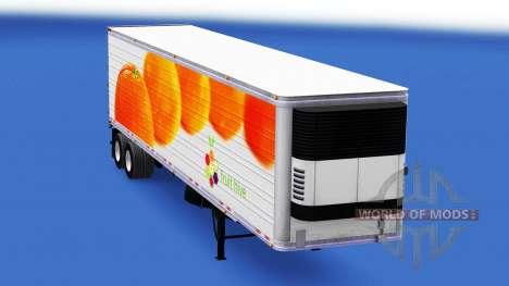 Скин Oranges на полуприцеп для American Truck Simulator