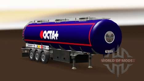 Скин Octa на топливный полуприцеп для Euro Truck Simulator 2