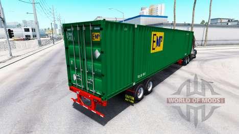 Полуприцеп контейнеровоз EMP для American Truck Simulator