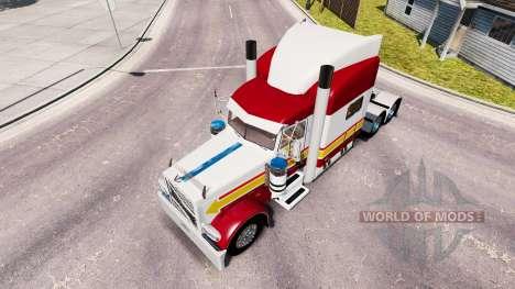 Скин IN-N-OUT на тягач Peterbilt 389 для American Truck Simulator