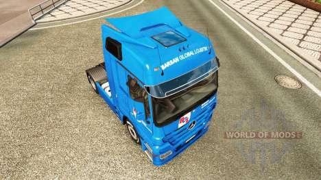 Скин BGL на тягач Mercedes-Benz для Euro Truck Simulator 2