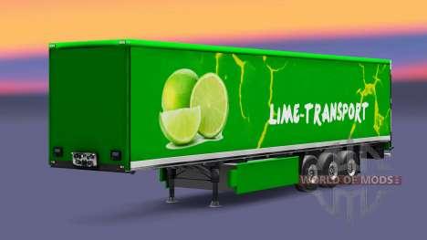 Скин Grun Lime на полуприцепы для Euro Truck Simulator 2