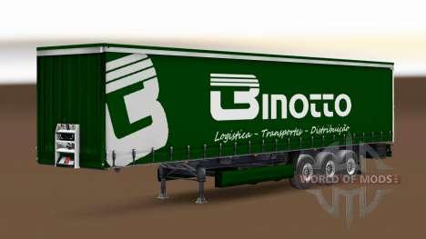 Скин Binotto Transportes на шторный полуприцеп для Euro Truck Simulator 2