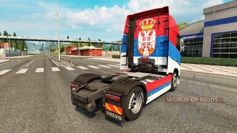 Скин Serbia на тягач Volvo для Euro Truck Simulator 2
