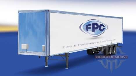 Скин Fine & Performance Chemicals на полуприцеп для American Truck Simulator