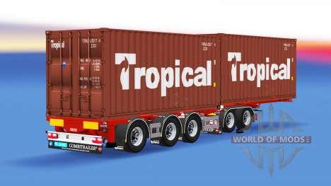 Полуприцеп контейнеровоз D-tec для American Truck Simulator