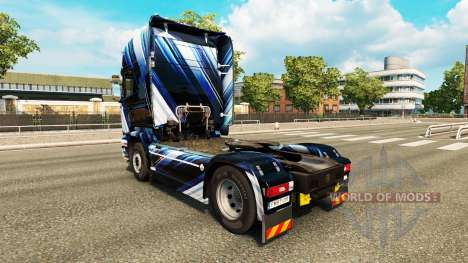 Скин Blue Stripes на тягач Scania для Euro Truck Simulator 2