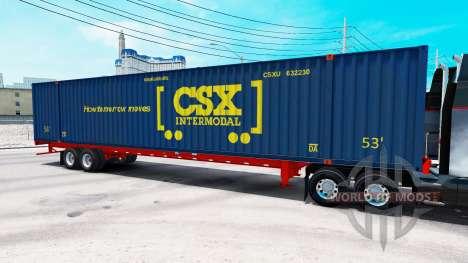 Полуприцеп контейнеровоз CSX Intermodal для American Truck Simulator