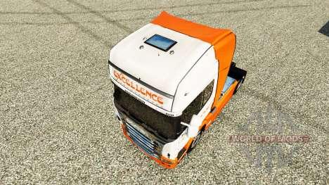 Скин Excellence Transportes на тягач Scania для Euro Truck Simulator 2