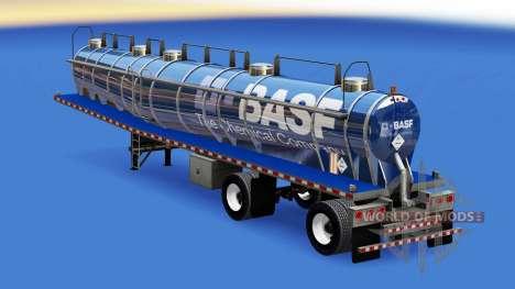 Скин BASF на химическую цистерну для American Truck Simulator