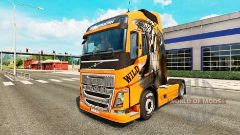 Скин Wild на тягач Volvo для Euro Truck Simulator 2