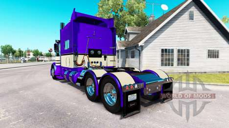 Скин Metallic Purple на тягач Peterbilt 389 для American Truck Simulator