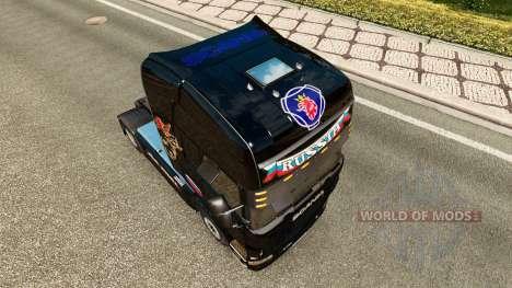 Скин Russia Black на тягач Scania для Euro Truck Simulator 2