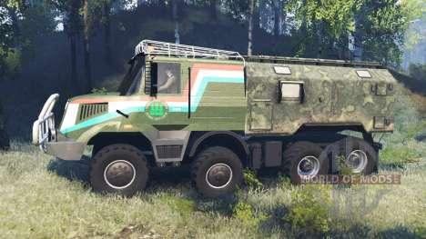 Tatra 163 Jamal 8x8 v8.0 для Spin Tires