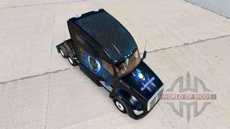 Скин Alienware на тягач Kenworth для American Truck Simulator