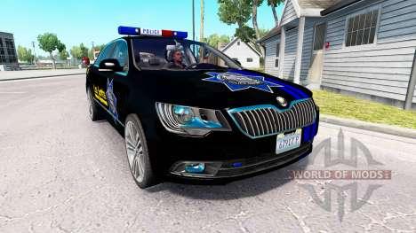 Скин LSPD на автомобиль Skoda Superb для American Truck Simulator