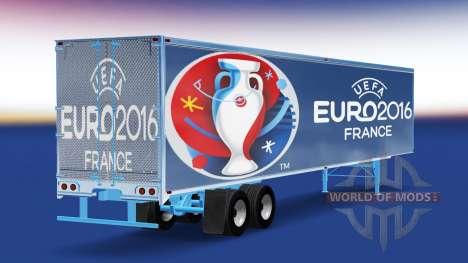 Скин Euro 2016 на полуприцеп для American Truck Simulator