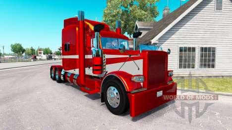 Скин Metallic 6 на тягач Peterbilt 389 для American Truck Simulator