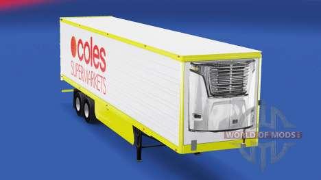 Скин Coles Supermarkets на полуприцеп для American Truck Simulator