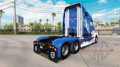 Скин Blue Shark на тягач Volvo VNL 670 для American Truck Simulator