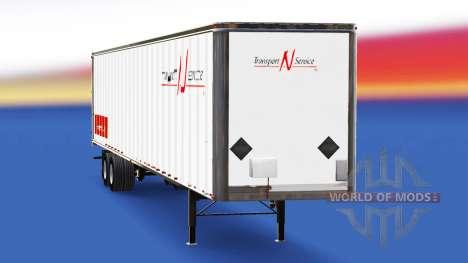 Скин Transport N Service на полуприцеп для American Truck Simulator