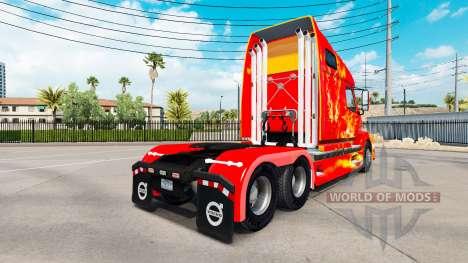 Скин Fire на тягач Volvo VNL 670 для American Truck Simulator