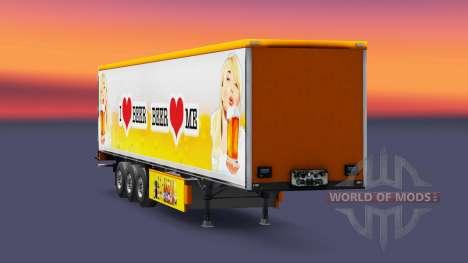 Скин Beer на полуприцепы для Euro Truck Simulator 2
