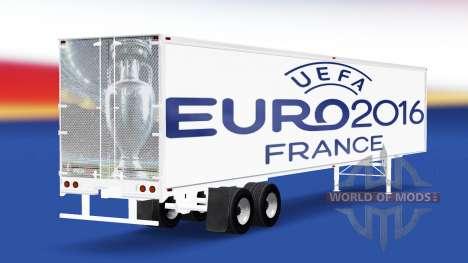 Скин Euro 2016 v2.0 на полуприцеп для American Truck Simulator