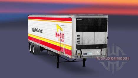 Скин IN-N-OUT на полуприцеп-рефрижератор для American Truck Simulator