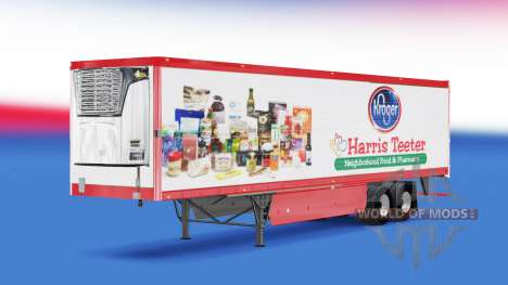Скин Harris Teeter на полуприцеп для American Truck Simulator