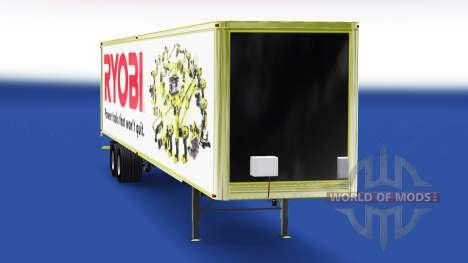 Скин Ryobi на полуприцеп для American Truck Simulator