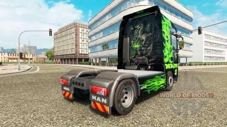 Скин Green Dragon на тягач MAN для Euro Truck Simulator 2