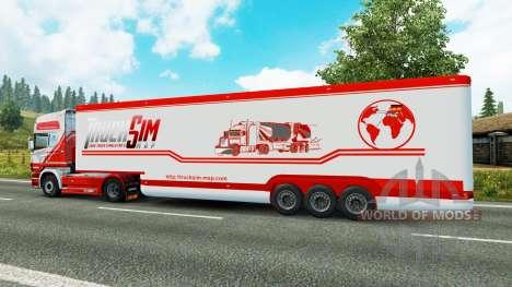 Полуприцеп-рефрижератор TruckSim для Euro Truck Simulator 2