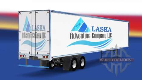 Скин The Alaska Adventure Company на полуприцеп для American Truck Simulator