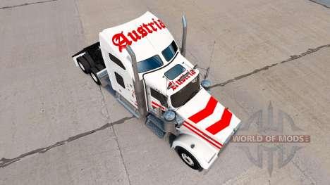 Скин Austria на тягач Kenworth W900 для American Truck Simulator
